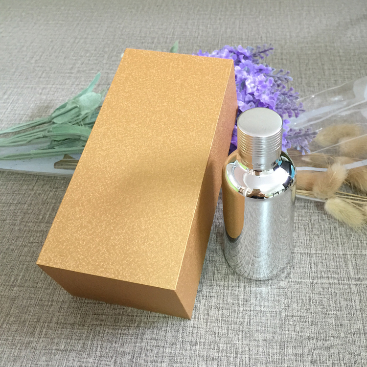 4pcs 30ml vacuum plating silver empty capsule bottle With wooden box,glass essential oil bottle,lotion cosmetics subpackage jar illusion money box dream box money from empty box wonder box magic tricks props comedy mentalism gimmick