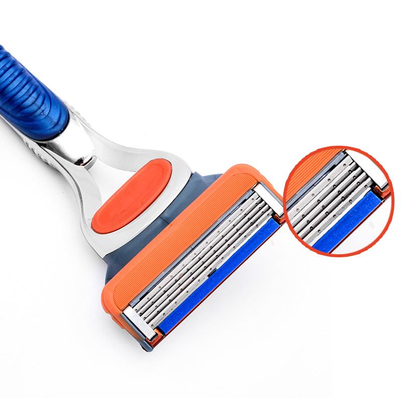 2017 New 5 Layer shaving Razor Blades for men hot sell 8 pcs:set Hight Quality Mens Standard face care Shaver 1 pcs razor handle 3