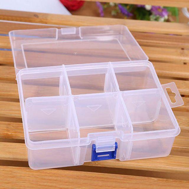 6 grid Adjustable Finishing Large Plastic Storage Box Compartment