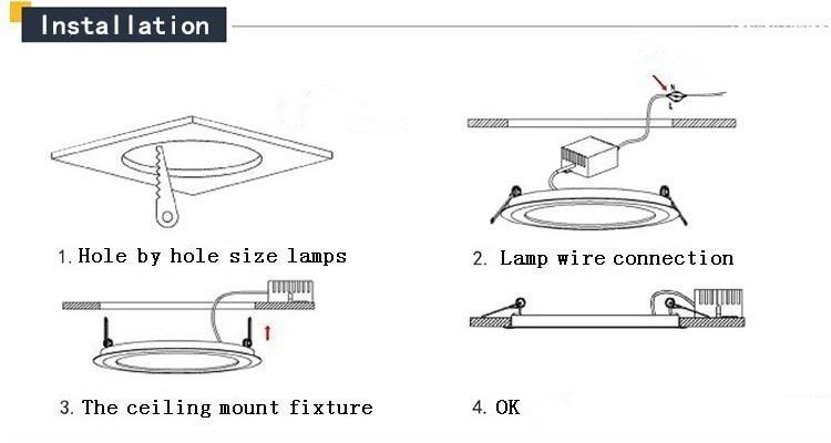 Ультра тонкий светодиодный Панель вниз светильник 3 Вт, 6 Вт, 9 Вт, 12 Вт, 15 Вт, 18 Вт, Круглый Встраиваемый светодиодный потолочный светильник AC85-265V светодиодный Панель светильник SMD2835