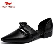 JOUIR TALONS/Лидер продаж, повседневные летние сандалии без шнуровки из натуральной кожи, большие размеры 33-43 Женская обувь удобная женская обувь