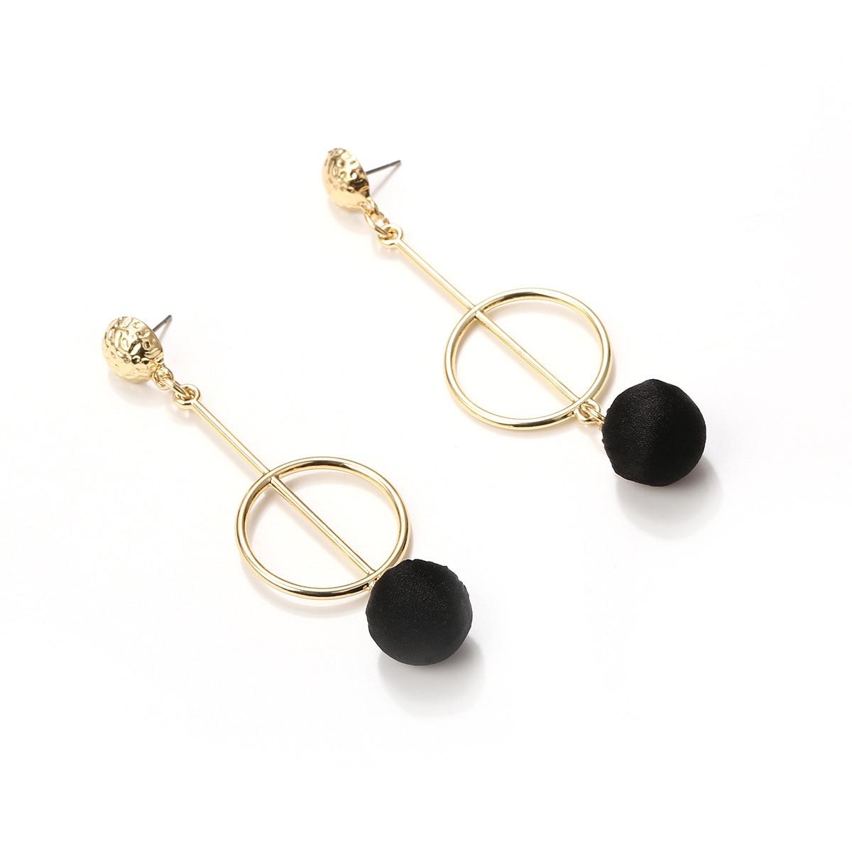 NEW Fashion Simple Drop Earrings Alloy Hollow Pierced ...