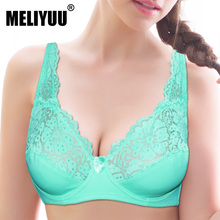 Womens Large Cup Lace Bra Underwired Sexy Bralette Underwear See Through Brassiere Bh Top 34 36 38 40 42 44 46 B C D DD E F