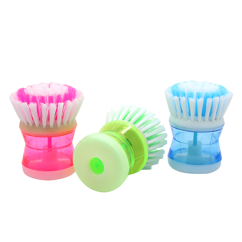 Kitchen Liquid Dispenser Commercial Faucets With Sprayer Cleaning Brush Supplies Palm Dish Washing Up ...