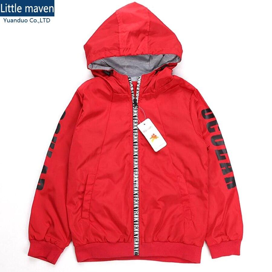 Boys' Hoody Jacket Boys Full-Zip Hooded Sweatshirt Red sweatshirt for Big Boy hoodies boys jackets children Clothing boys