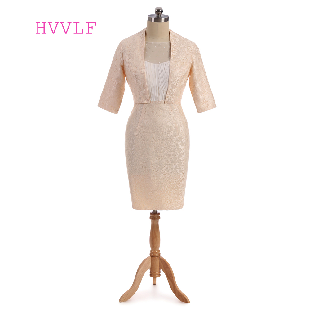 Champagne 2018 Mother Of The Bride Dresses Sheath Knee