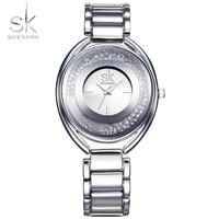 Shengke Luxury Women Watches Girl Fashion Crystal Clock Bracelet Ladies Watch High Quality Wristwatch Watch Reloj