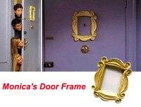 Новый сделать старый с героями телесериала «друзья» дверь Моники желтый глазок желтая рамка очень хорошая отделка