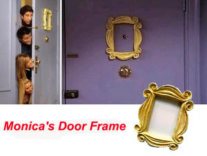 AIBOULLY Make Old Friends TV Show Door Yellow Frame