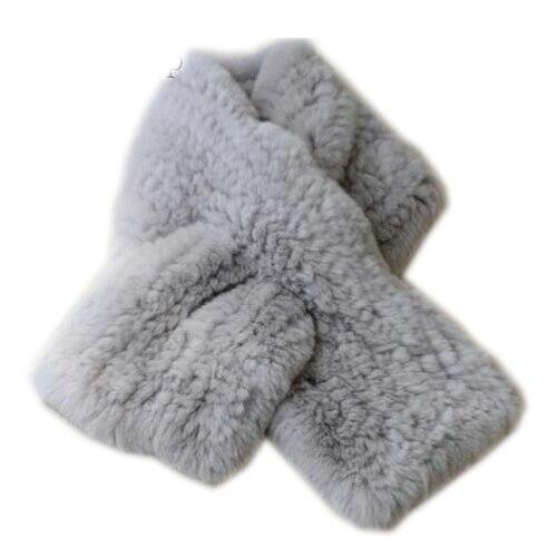 2017 new Genuine Rex Rabbit Fur Women's Long Knitted Scarfs   Scarves     Wraps   Soft Warm 92CM X12CM