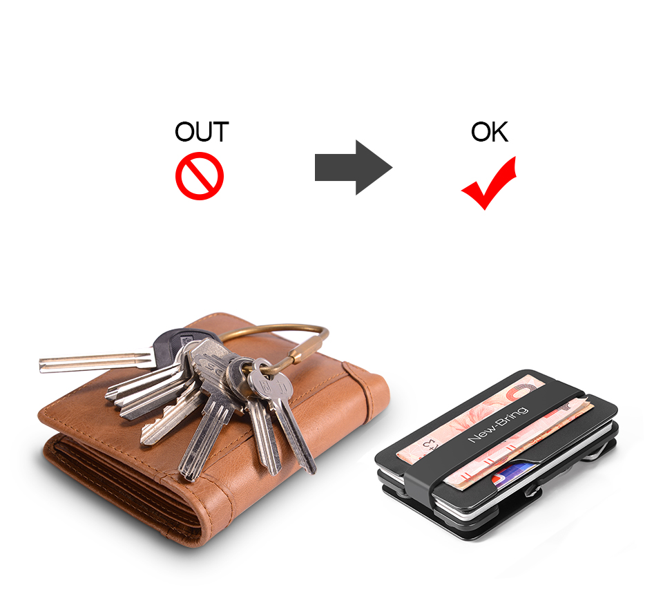 MonClip - Metal Wallet for Cards, Keys, Money | Dukesman.com