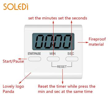 White Cooking Alarm Durable Consumer Electronics Cooking Timer for Time Timer for Gym Alarm Digital Timer