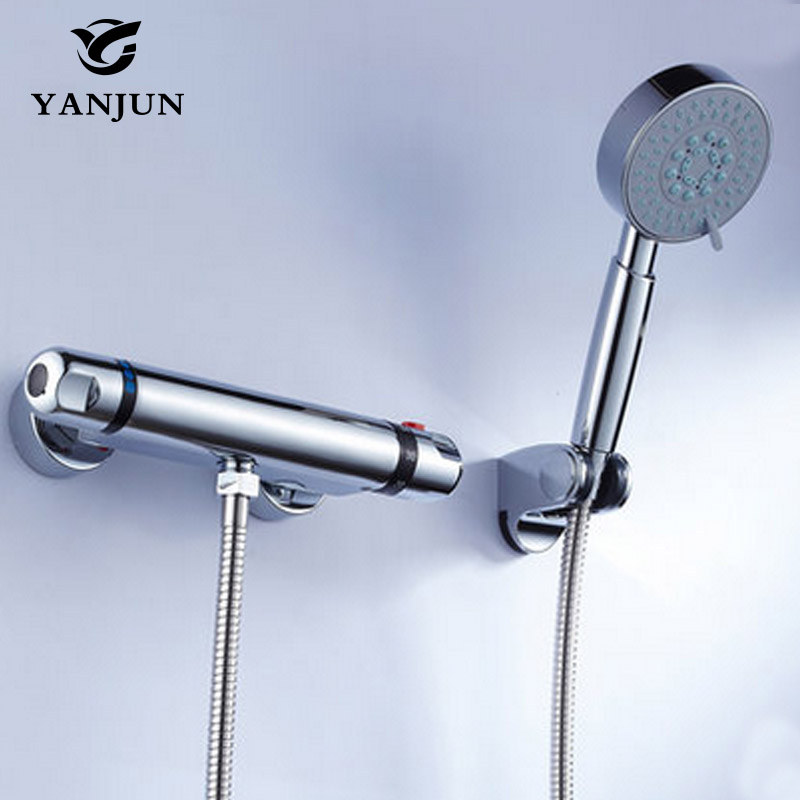 Yanjun Shower Faucet Sets Modern Thermostatic Bathroom Bath Shower Mixer Tap Valve Thermostatic Shower Faucet YJ-7806 bathroom thermostatic shower faucet shower head set wall mount shower faucet mixer brass shower faucet thermostatic mixing valve
