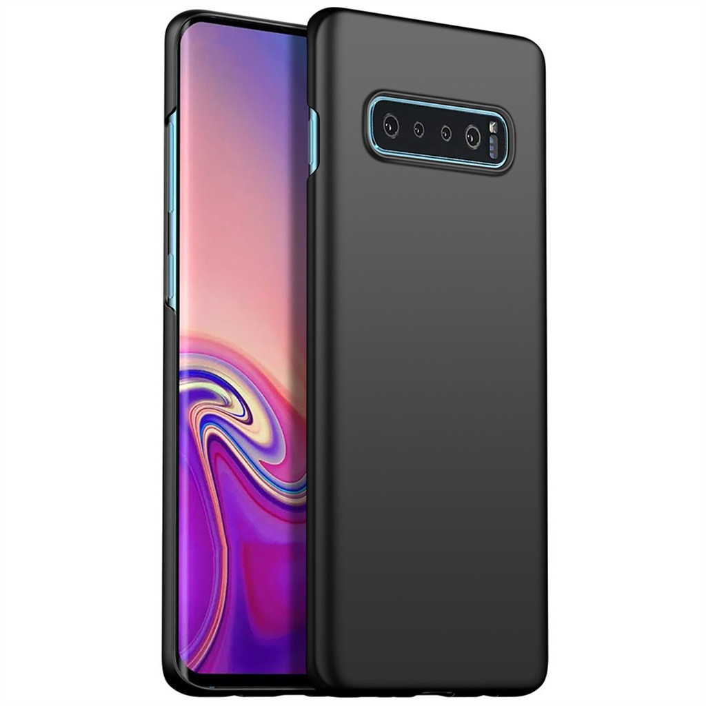 For Samsung Galaxy S10 Plus 6.3Inch Ultrathin Luxury Hard PC Protective Case Cover Non-Slip Simple Solid Color Luxury Shockproof