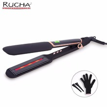 Rapid Heating Infrared Negtive Ions Straightening Irons Temperature Ajustable Styling Tools Professional Hair Straightener