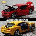 1 UNID Super Cool 1:32 Chevrolet Camaro Bumblebee Coche Deportivo de Aleación Modelo de Coche Juguetes de Los Niños Regalo de Cumpleaños 2 Colores Escala modelos