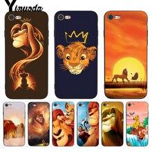 Yinuoda для iphone 7 6 X Чехол Король Лев лучший чехол Роскошный чехол для телефона для iPhone X 8 7 6 6S Plus X 5 5S SE 5C чехлы