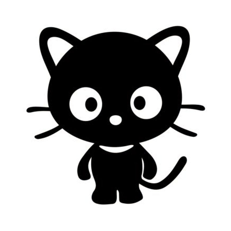 Download 15.2*15.2CM Cute Cat Silhouette Vinyl Car Stickers Decals ...