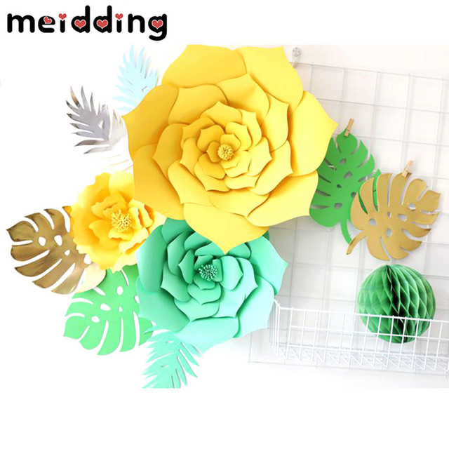 Meidding 2pcs diy wedding backdrop paper flowers artificial flowers meidding 2pcs diy wedding backdrop paper flowers artificial flowers kid birthday party wedding decoration diy home mightylinksfo
