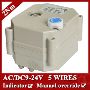 AC/DC9-24V actuated valve actuator, 5 wires(CR502) , 2Nm, with power off return and signal feedback function