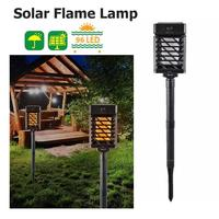 96 LED Solar Flame Lamp IP65 Waterproof Landscape Garden Lamp Path Lighting