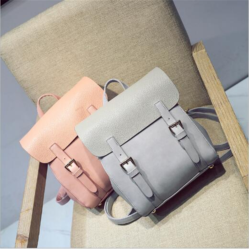 DIDA BEAR Brand Quality Women Leather Backpack Female School bags for Girls Fashion Rucksack Small Leisure Bagpack Sac A Dos dida bear brand quality women leather backpacks female school bags for girls rucksack small drawstring bagpack sac a dos gray