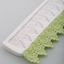 3D Crown Lace Mat Silicone Cake Molds Fondant Christmas Leaf Border Chocolate Confeitaria Cupcake Kitchen Accessories