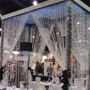 1 Roll 10M Beads Garland Octagonal Strand Acrylic Crystal Beads Curtains DIY Window Door Wedding Party Passage Backdrop Decor