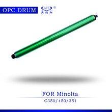 2 sztuk wysokiej jakości fotokopiarka bęben opc dla Konica Minolta C 350 450 351 części kopiarki C350