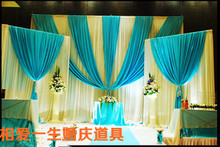 Luxury White Wedding Backdrop with Beatiful Swag Wedding drape and curtain wedding decoration