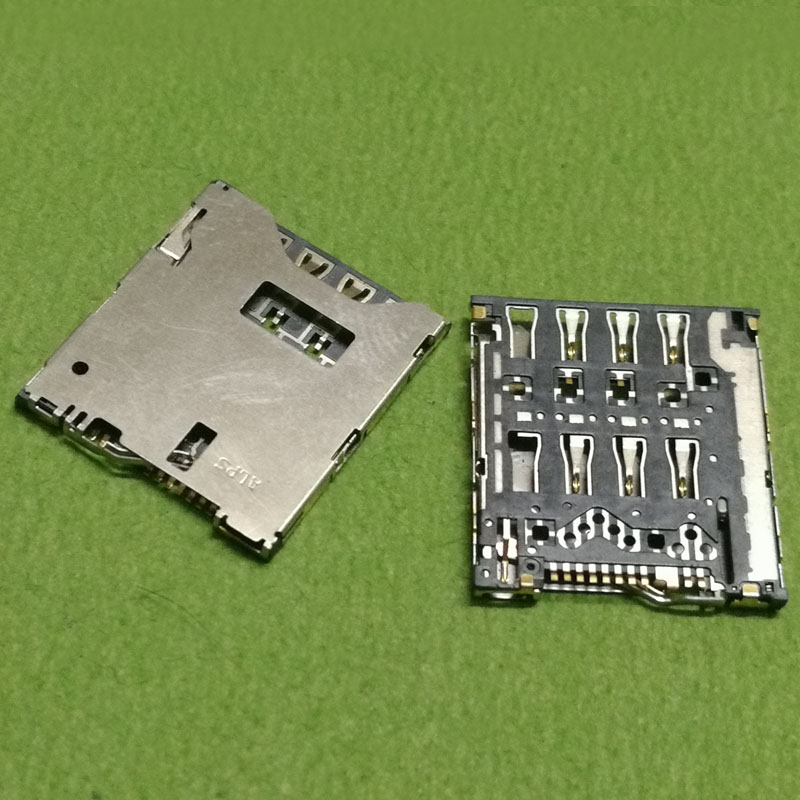 sim card reader slot tray module holder connector for HTC Butterfly S 6160 619D 9060 9088 919d socket 2pcs/lot