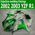 Injection molding fairing kit for YAMAHA R1 2002 2003 green white bodywork YZF R1 02 03 lowest price fairings set JK94
