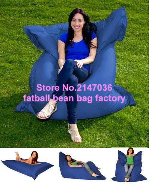 Navy blue garden relax bean chair, Wholesale outdoor Cushions giant bean bag,Giant 420D nylon cover bean bag fat sack