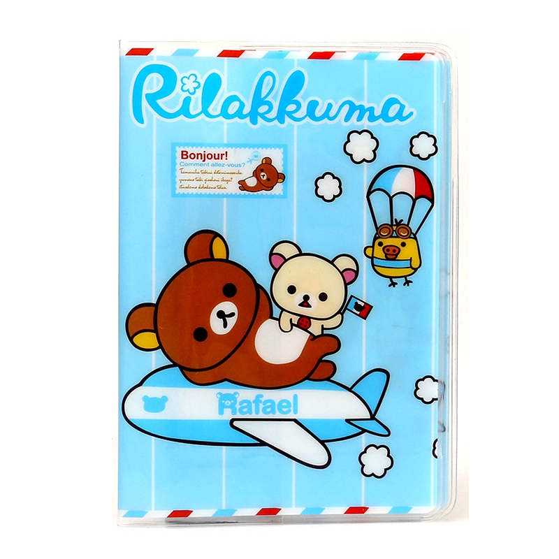 Alieme 3d Passport Cover Cartoon Design Rilakkuma Passport Holder Id Card Holder Pvc Leather Business Travel Card Bag 14*9.6cm Buy One Get One Free Card & Id Holders Luggage & Bags