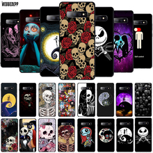 WEBBEDEPP Dancing Nightmares skull TPU Cover for Samsung Galaxy A10 A30 A40 A50 A70 A6 A8 A9 J6 2018 Note 8 9 Soft Case
