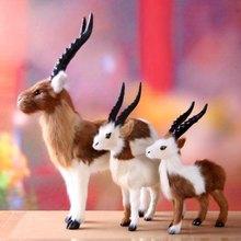Simulation toy gazelle Tibetan antelope Handmade crafts ornaments gifts