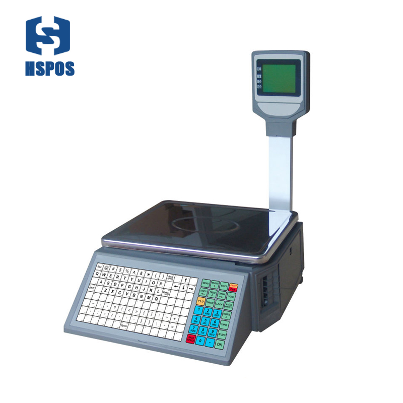 Electronic label printing scale thermal barcode price label scale with LCD display for supermarket new arrival
