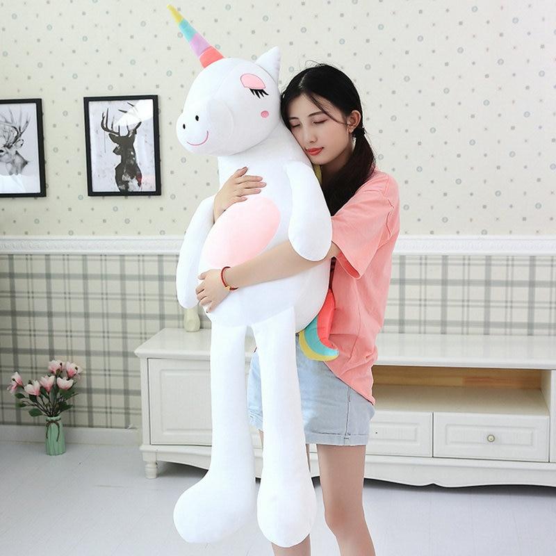 Macio macio pelúcia unicórnio brinquedo gigante abraço