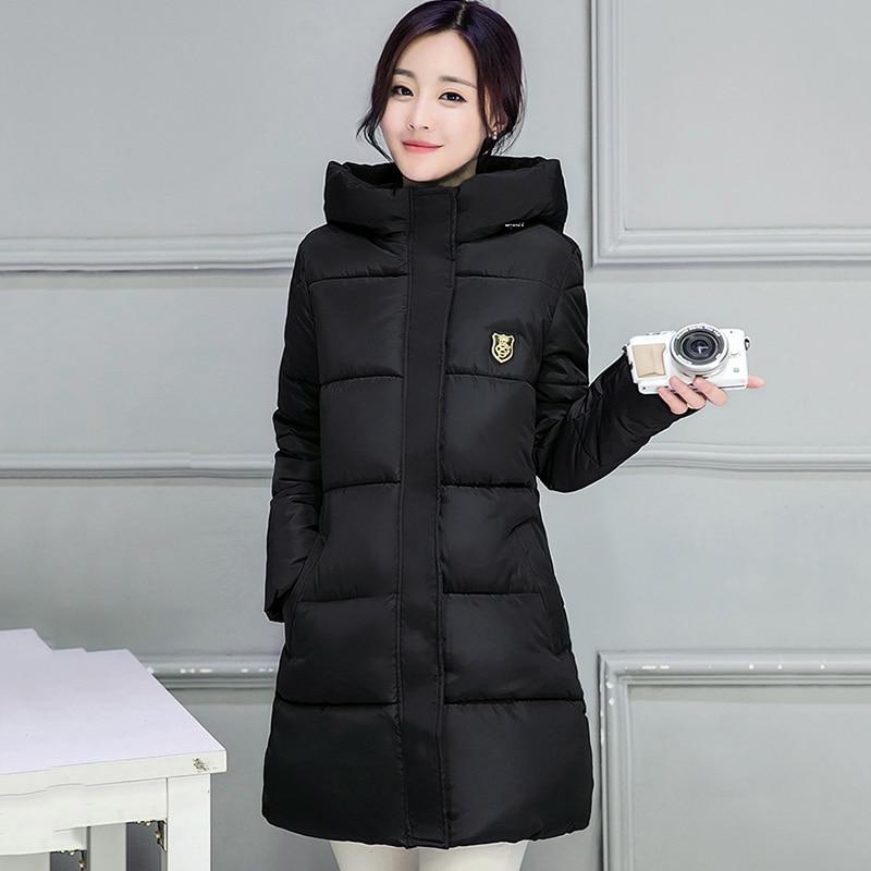 2018 hot sale women winter hooded jacket female outwear cotton plus size 3XL warm coat thicken jaqueta feminina ladies camperas 1