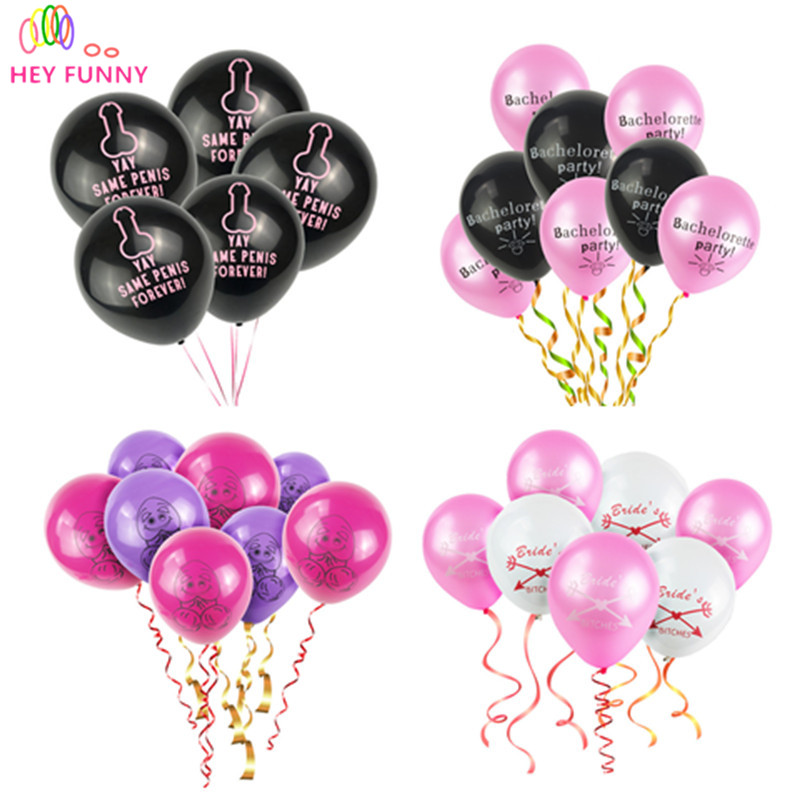 HEY FUNNY 10pcs YAY Same Penis Forever Alphabet Letter Balloons Bachelorette Party Balloons Bridal Shower Decoration Hen Party