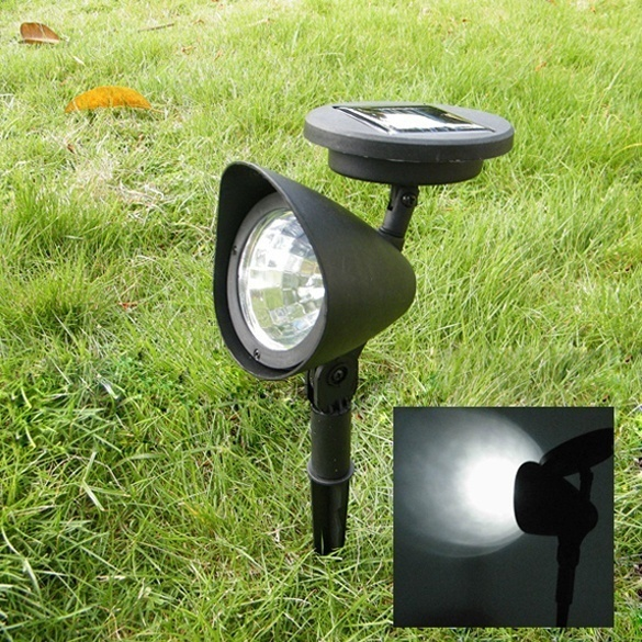 HENYNET 3 LED Outdoor Led Solar Powered Light Garden Spotlight Landscape Spot Light Lamp
