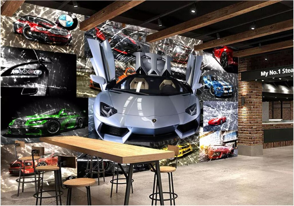 """In some cases, the """"value"""" of a. Custom Mural 3d Photo Wallpaper Car Sports Car Broken Glass Background Wall Home Decor Living Room Wallpaper For Walls 3 D Wallpapers Aliexpress"""