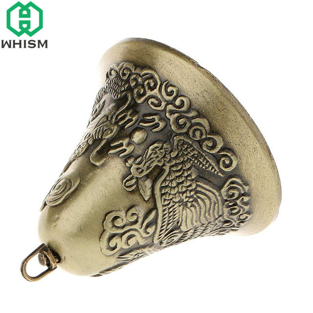 WHISM Antique Zinc Alloy Jingle Bell Small Christmas Bells Charms Feng Shui Wind Chime Pendant Vintage Metal Jewelry Accessories 4