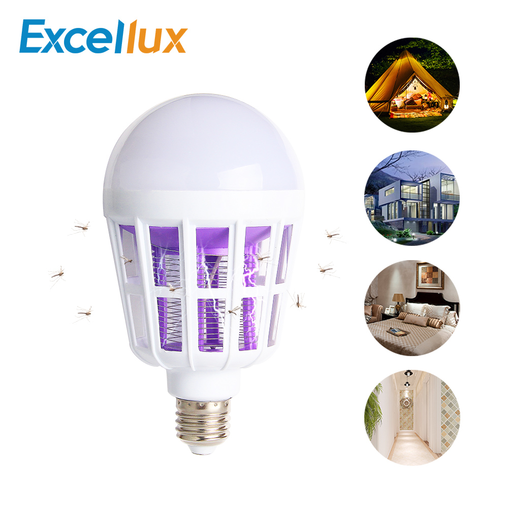 LED Mosquito Killer Bulb 110V 220V 15W Bug Zapper Trap Lamp E27 Insect Anti Mosquito Repeller Night Light Killing Fly Night lamp