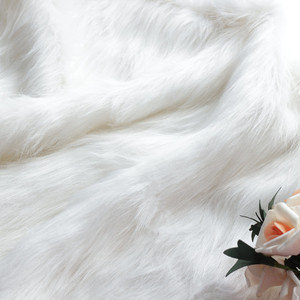 7cm long pile gray and white imitation fur fabric material for toy sofa pillow decoration DIY cosplay fake fur fabric