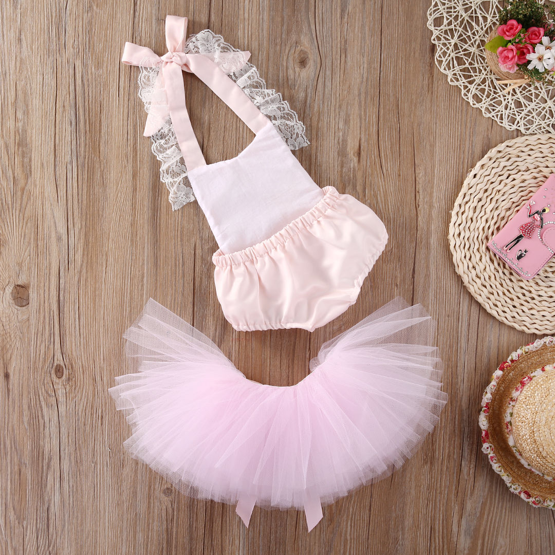 Christmas Baby Girl Clothes Set Lace Bodysuits Cute Belt Tutu Tulle Skirts Fancy Outfits Set Baby Girls Clothing Costume 0-2T princess toddler kids baby girl clothes sets sequins tops vest tutu skirts cute ball headband 3pcs outfits set girls clothing