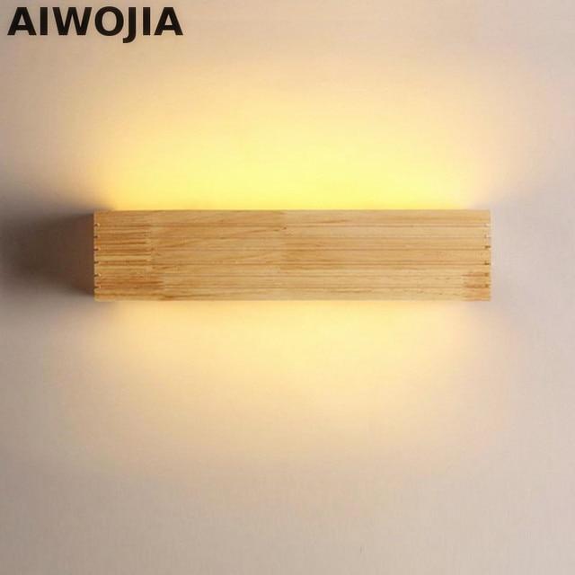 Merveilleux LED Nordique En Bois Massif Applique Murale Moderne Miroir Appliques  Luminaires Murales Pour Salle De Bain