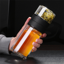 520ml 200ml Glass Water Bottle With Tea Filter Strainer Double Wall Portable Travel Coffee Infuser Bottles Drinkware Teapot glass bottle with tea infuser double wall glass portable travel outdoor tea tumbler bottles home office drinkware for car 350ml