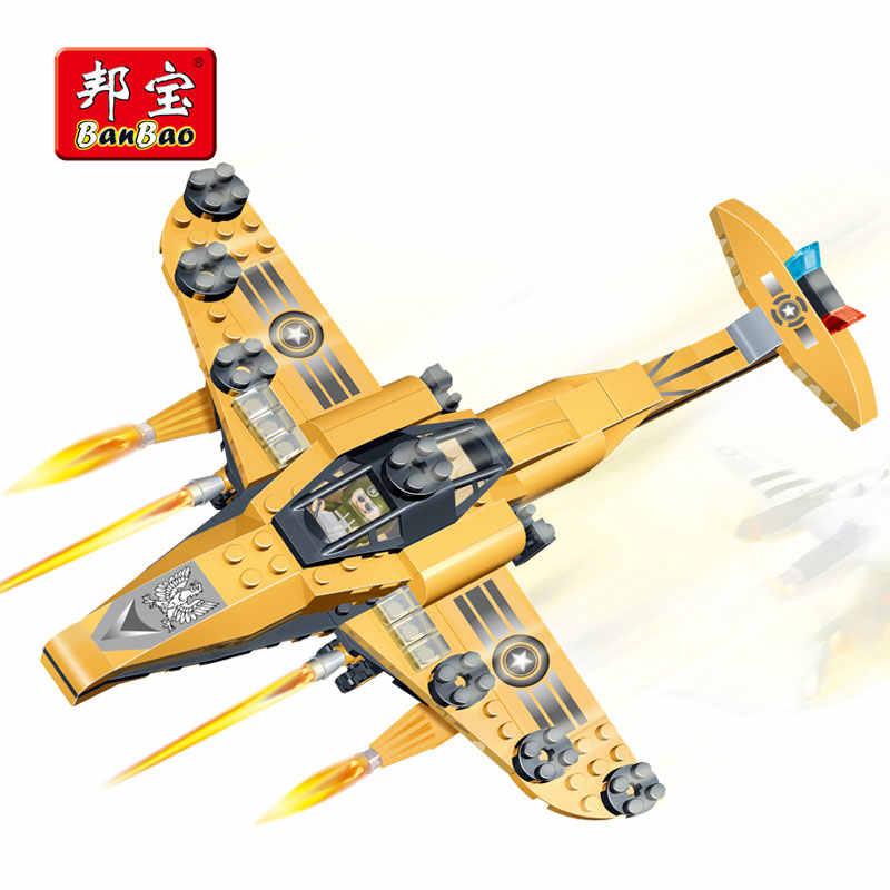 BanBao Военная молния самолет истребитель строительные блоки Развивающие Кирпичи Игрушка модель 8237 дети совместимы с брендом