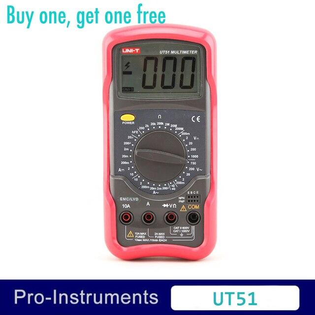 Pleasant Uni T Ut51 Digital Multimeter 3 1 2 Digits Manual Range 10A Fuse Wiring Digital Resources Llinedefiancerspsorg